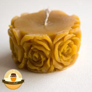 Rózsás oldalú méhviasz gyertya termékkép