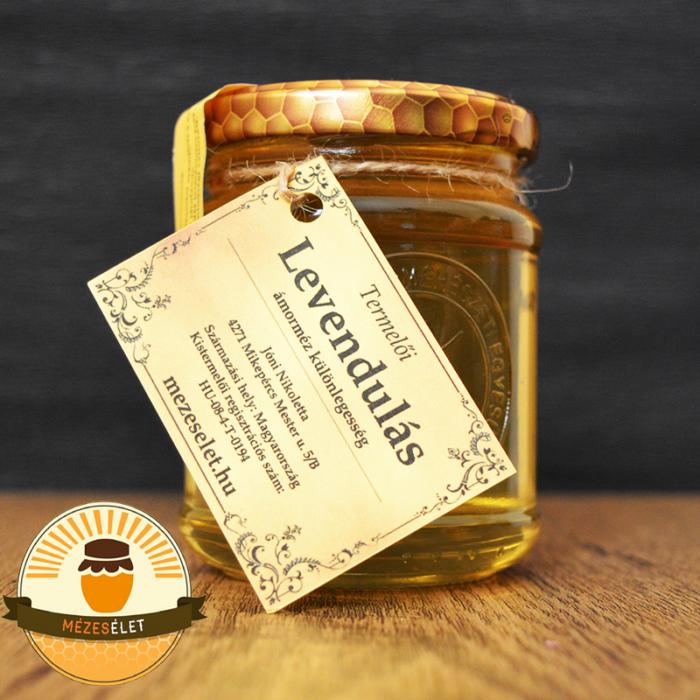 Levendulás mézkülönlegesség 250 g-os kiszerelésben